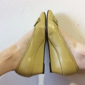 Salvatore Ferragamo Shoes - FERRAGAMO Classic Yellow Bow Closed Toe Mini Wedge
